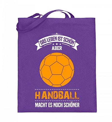 Borsa In Juta Di Alta Qualità (con Manici Lunghi) - Handballer Giocatore Allenatore Regalo Handballer Handballer Idea Regalo Sport Viola
