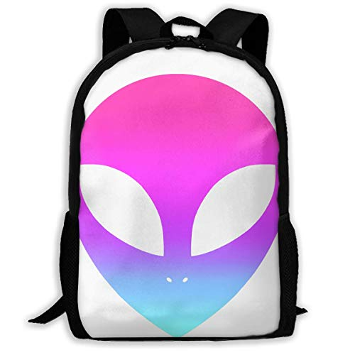 Space UFO Alien Clipart Unisex Adult Unique Rucksack,School Casual Sports Book Bags,Durable Oxford Outdoor College Laptop Computer Shoulder Bags,Lightweight Travel Tagesrucksäcke