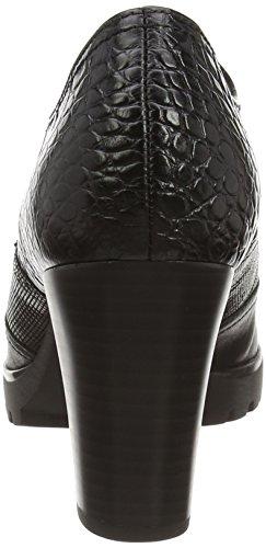 Gabor Comfort Basic, Stivali classici imbottiti a gamba corta donna Nero (Black (Black Leather/Black Croc))