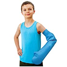 Bloccs Waterproof Cover for Plaster Cast Arm, Swim, Shower & Bathe. Watertight Protector, Child Large