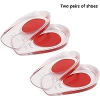 KOBWA 2 Paar Gel-Fersenkissen - Soft Silikon Fersenschutz Pads für Achilles, Fußgewölbe, Fersenschmerzen, Knochensporn... preisvergleich bei billige-tabletten.eu