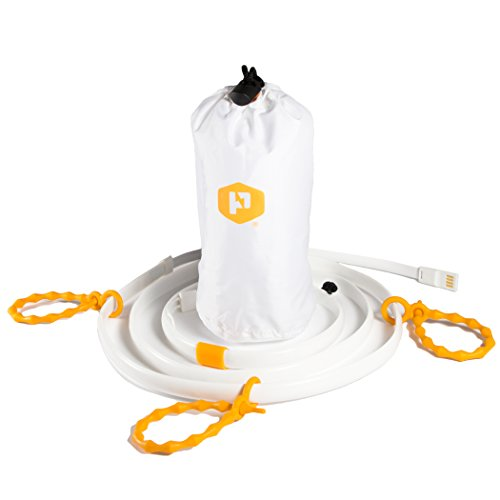 Power Practical Luminoodle LED Licht-Schlauch mit Akku für Camping, Zelten, Outdoor. Campinglampe, Zeltlampe, Laterne, Lichterkette, leicht, hell und wasserdicht