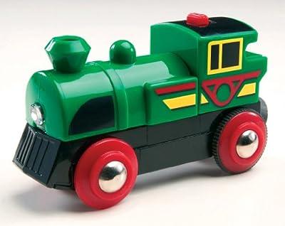 Brio 33222 - Locomotora Speedy Green a pilas por BRIO