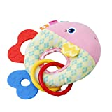Lalang Baby Teething Rings Toys Soft Plush Hand Squeaker Developmental Toys