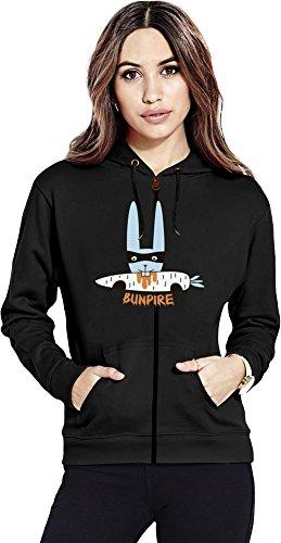Bunny vampire Womens Zipper Hoodie X-Large (Zip Bunny Hoodie)