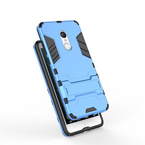 Xiaomi Hongmi Note 4 Fall-Abdeckung 2 in 1 New Armour Tough Art Hybrid Dual Layer Rüstung Defender PC Hard Cases Standplatz-Abdeckung Stoß- Fall Für Xiaomi Hongmi Note 4 ( Color : Red , Size : Xiaomi  Blue
