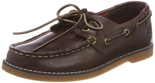 Timberland Seabury Classic 2Eye Boat, Mocasines Unisex-Niños, Marrón Dark Brown Full Grain, 34 EU...