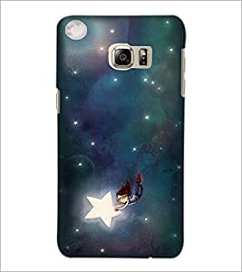 PrintDhaba Flying Doll and Stars D-2236 Back Case Cover for SAMSUNG GALAXY NOTE 5 EDGE (Multi-Coloured)