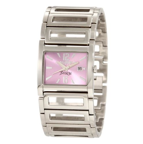 Haurex Italy Ladies Watch XA344DL1 Breeze with Purple Dial and Silver Stainless Steel Strap