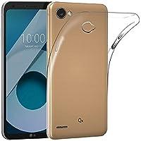Funda Carcasa Gel Transparente para LG Q6, Ultra Fina 0,33mm, Silicona TPU de Alta Resistencia y Flexibilidad, Electrónica Rey®
