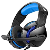 GCCLCF Professionelles Gaming-Headset USB Integrierte Soundkarte Hyun Optoelectronics Headset Headset,Blue