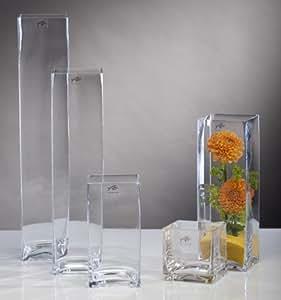 glasvase glas vase blumenvase tischvase bodenvase quadrat. Black Bedroom Furniture Sets. Home Design Ideas