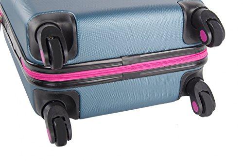 41gOjAdaThL - Maleta rígida PIERRE CARDIN verde mini equipaje de mano ryanair 4 ruedas VS4
