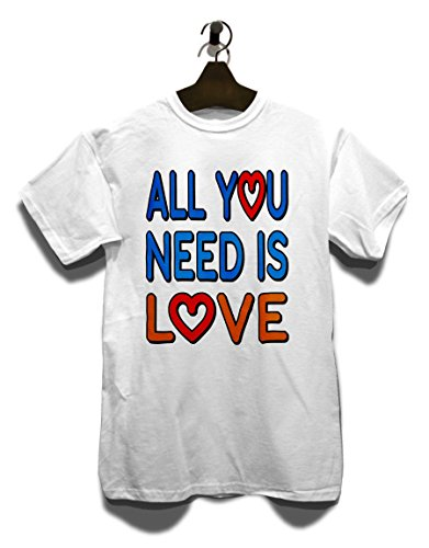 All You Need Is Love Herren T-Shirt Weiß