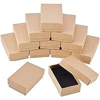 BENECREAT 24 Pack Scatole Regalo Squisite in Cartone Scatole Gioielli in  Cartoncino Bracciale Marròn Bracciale 8x5x2 5f21809ce86f