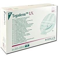 3M TegadermTM IV - Apósito adhesivo estéril de película de poliuretano con borde de TNT para catéteres venosos centrales, paquete de 50 unidades