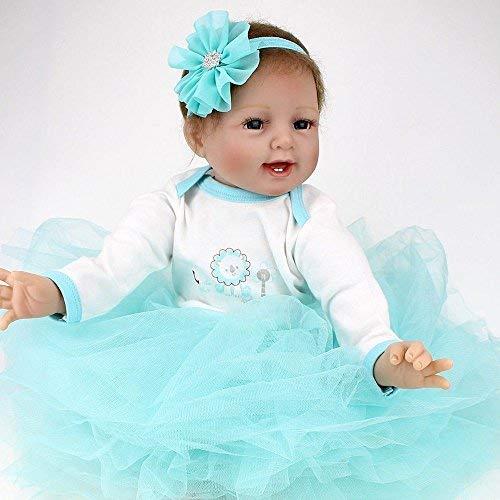 ZIYIUI Muñecas Reborn Baby Dolls 22 Pulgadas 55cm Suave Vinilo de Silicona Reborn niña Lifelike Bebé Recién Nacido Regalo de Juguete