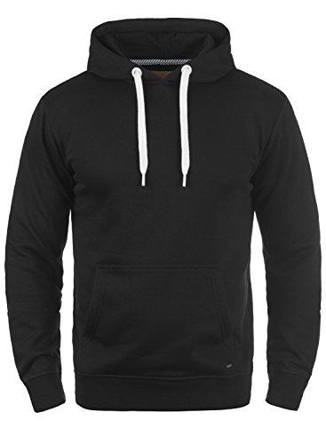 SOLID Olli Herren Kapuzenpullover Hoodie Sweatshirt aus hochwertiger Baumwollmischung Meliert, Größe:3XL, Farbe:Black (9000) (Basic Hoodie)