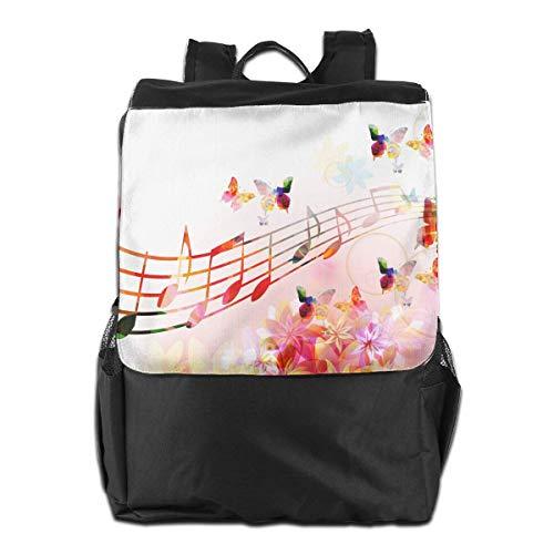 Musikalisches nahtloses Muster mit Musiknoten Violinschlüssel Trompete Unisex lässig Schulter Tasche (Tastatur Tasche Musikalische)