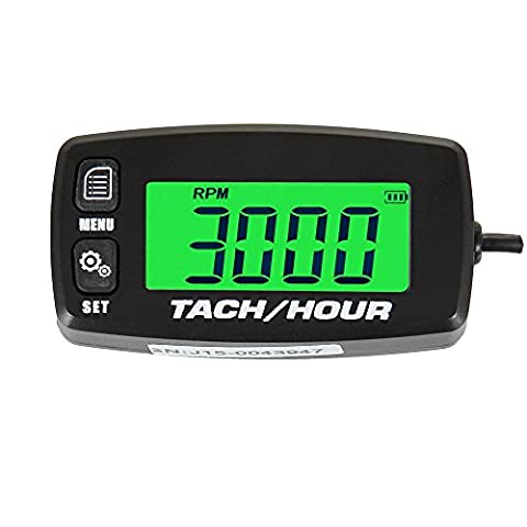 Runleader RL-HM032R Inductive tachometer with hour meter backlit display for