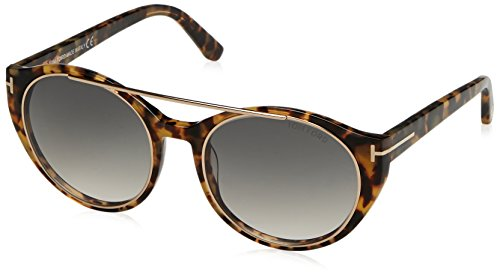 Tom Ford Damen FT0383 5256B Sonnenbrille, Braun, 52
