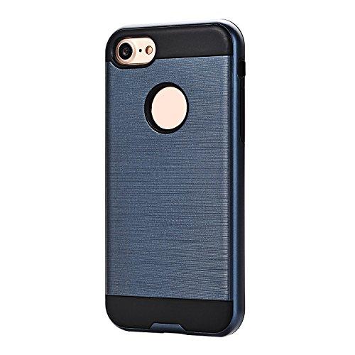 Cuitan 2 in 1 Hülle Schutzhülle für Apple iPhone 6 / 6S (4,7 Zoll), TPU Weich Innen Hülle und PC Harte Rück Abdeckung Back Cover Case Rückseite Tasche Handytasche Handyhülle für iPhone 6 / 6S (4,7 Zol Dunkelblau