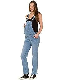 USKEES GRACE Peto de Premamá - Luz Azul Peto vaquero de embarazo Peto Mujer GRACEPW