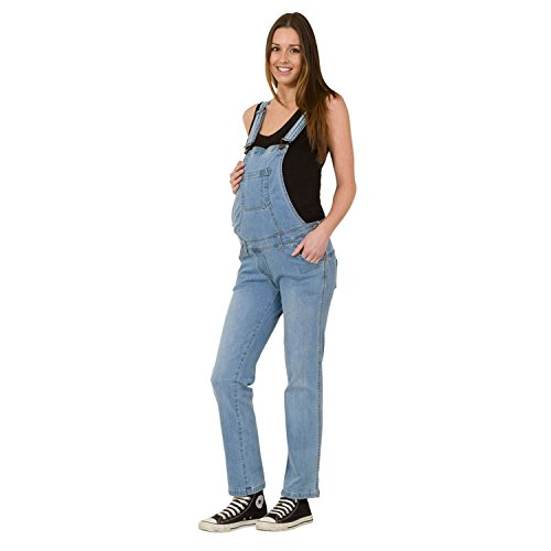 USKEES GRACE Umstands,Latzhose - Lightwash Denim Umstandsmode Latz-jeans GRACEPW-XXL-20