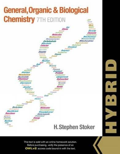 General, Organic, and Biological Chemistry, Hybrid (with OWLv2 Quick Prep for General Chemistry Printed Access Card) by H. Stephen Stoker (2015-06-29)