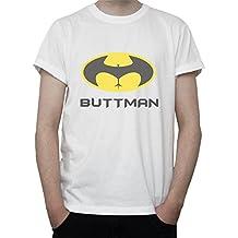 BUTTMAN Funny Batman Logo Grpahic Mens T-Shirt