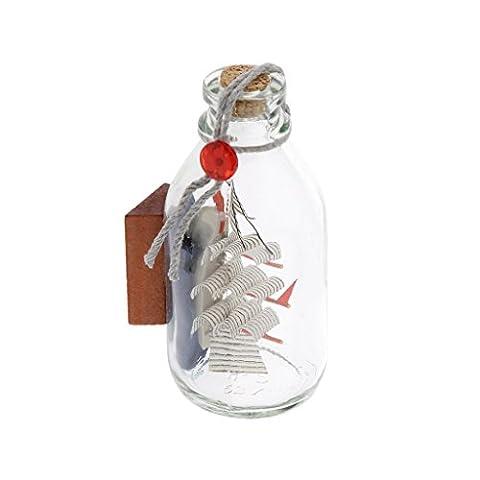 Glas Piraten Wollen Drift Flasche Heimbüro Segelboot Schiffsdekor Geschenk