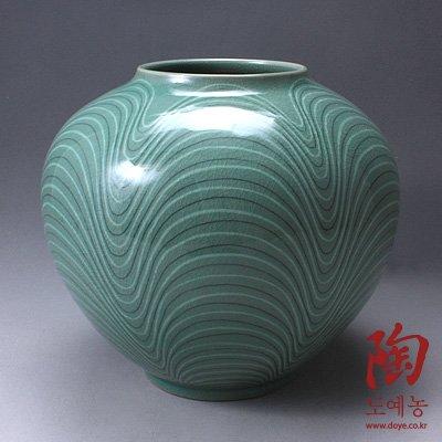 Amazon.de: Korea Celadon Relief Vase Handarbeit Design