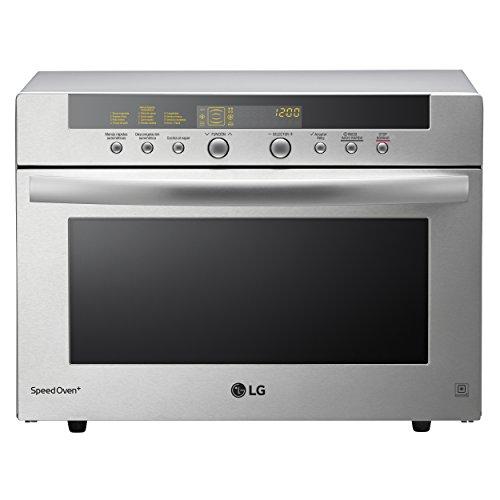 LG MA3884VCT Horno microondas 4 en 1, convección máxima 2.800 W, grill 1600 W, microondas 900 W y 38 l de capacidad, acero inoxidable