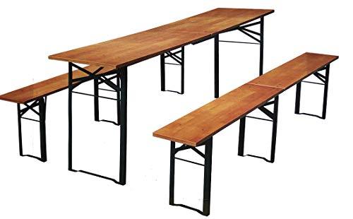 Coma Design Bierzeltgarnitur 220cm Faltbar & klappbar, 3 tlg. 2X Sitzbank 1x Tisch ideal zum...