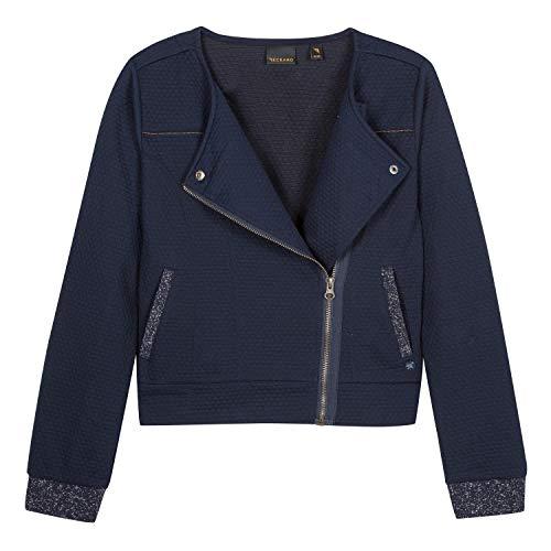 B-KARO B-KARO Mädchen 3n17036 49 Waistcoat Blazer, Blau (Navy Blue 49), 8 Jahre (Herstellergröße: 8A)