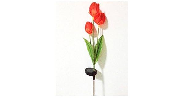 Lampada Fiore Tulipano : Vasyle lampade solare a led a forma di tulipano lampada colorata