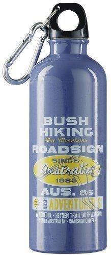 Botella de agua 500ml Contenido (ideal para llevar, con los ganchos de la carabina, Alutrinkflasche) azul