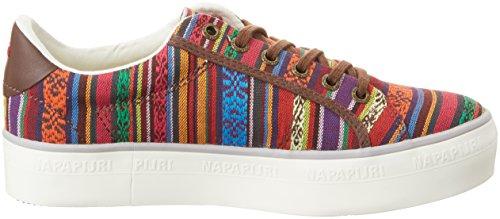 Napapijri  Astrid, Sneakers Basses femme Mehrfarbig (dk bro.ethnic print)