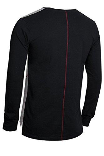 trueprodigy Casual Herren Marken Long Sleeve mit Aufdruck, Oberteil cool und stylisch mit Rundhals (Langarm & Slim Fit), Langarmshirt für Männer bedruckt Farbe: Schwarz 2572101-2999 Black