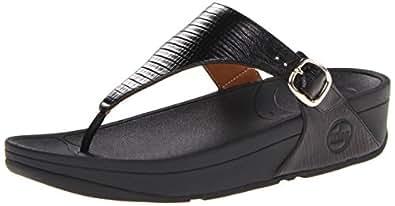 Fitflop Skinny Croc, Sandales femme - Noir (Black), 40 EU
