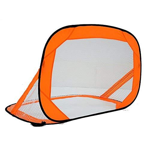 LEOO Fußballtrainer - Tragbares Fußballnetz Funktioniert als Fußball-Volley-Trainer, Fußball-Passing-Trainer und Solo-Fußballtrainer. (Farbe : Orange)