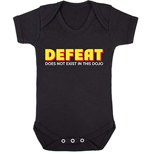 Cloud City 7 Cobra Kai Fear Pain and Defeat Do Not Exist In This Dojo Baby Grow Short Sleeve