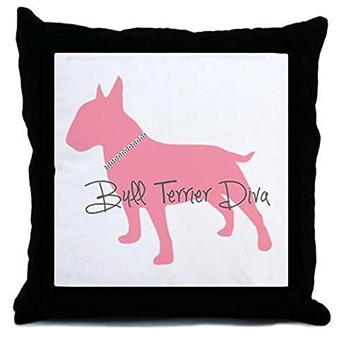 CafePress - Diamonds Bull Terrier Diva Throw