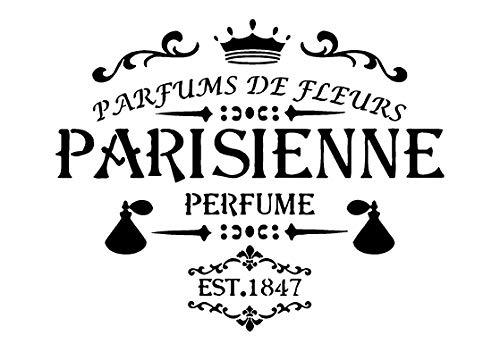 A4-Schablone, Shabby Chic, Französisch, Möbel, Stoff, Glas, wiederverwendbar 125 Mikron Mylar (168) 168 Gläser