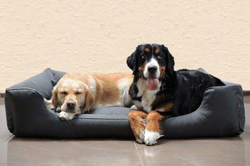 tierlando® M4-C-02 Hundebett MORITZ aus robustem CODURA Hundesofa Hundekorb Gr. L 100cm GRAPHIT/GRAU - 2