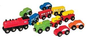 Woodyland Madera DE Tren del FERROCARRIL Set Madera Accesorios Auto u -. Se Adapta a Todos los rieles de Madera comunes - Juguetes de Madera - para Ferrocarril de Madera