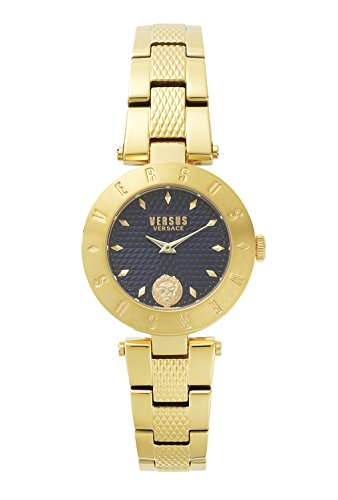Versus by Versace Women's 'NEW LOGO' Quartz Stainless Steel and Gold Plated Casual Watch(Model: S77110017)