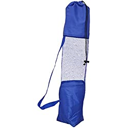 Amazinghind Yoga mat cover, Fitness Carrier Nylon Mesh Center Strap,Colour- Blue