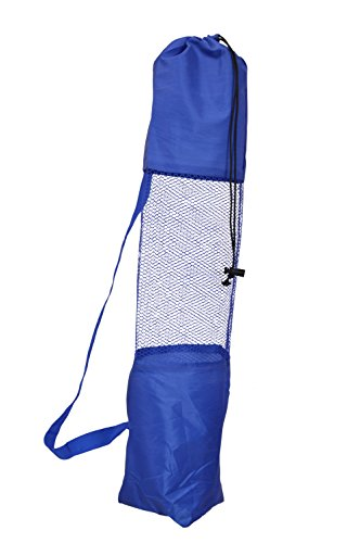 Amazinghind-Yoga-mat-cover-Fitness-Carrier-Nylon-Mesh-Center-StrapColour-Blue