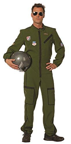 W5109-58 grün Herren Kampfpilot Jetpilot Overall Gr.58